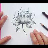 Como dibujar una flor paso a paso 18   How to draw a flower 18