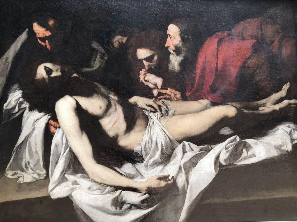 Jusepe de Ribera, la Déposition du Christ, Huile sur toile, vers 1622-1624