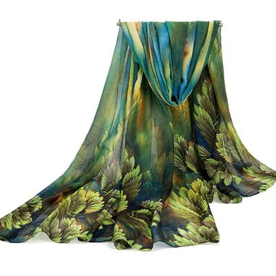 Coral Flower Large Scarf | Buy Womens Fashion -New offer