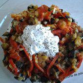 Bandjan bourani ou aubergine aux yaourts - La cuisine de poupoule