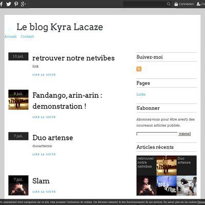 Le blog Kyra Lacaze