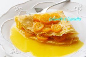 Crêpes faussement Suzette, aux Kumquats, et comment préparer des Crêpes avec une Poêle en Inox Baumstal