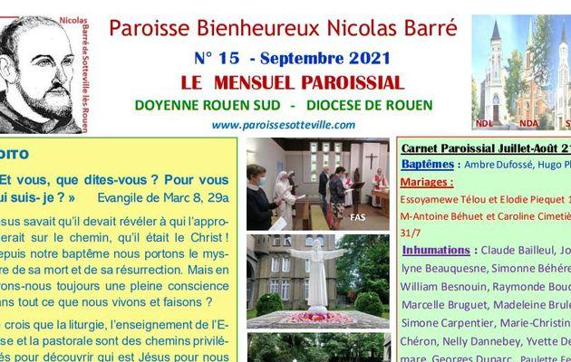 MENSUEL PAROISSIAL - Septembre 2021