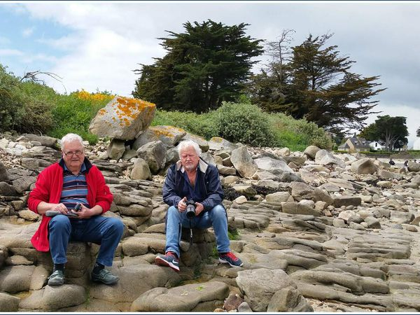 Vue sur le golfe du Morbihan depuis la côte de Kerpenhir...