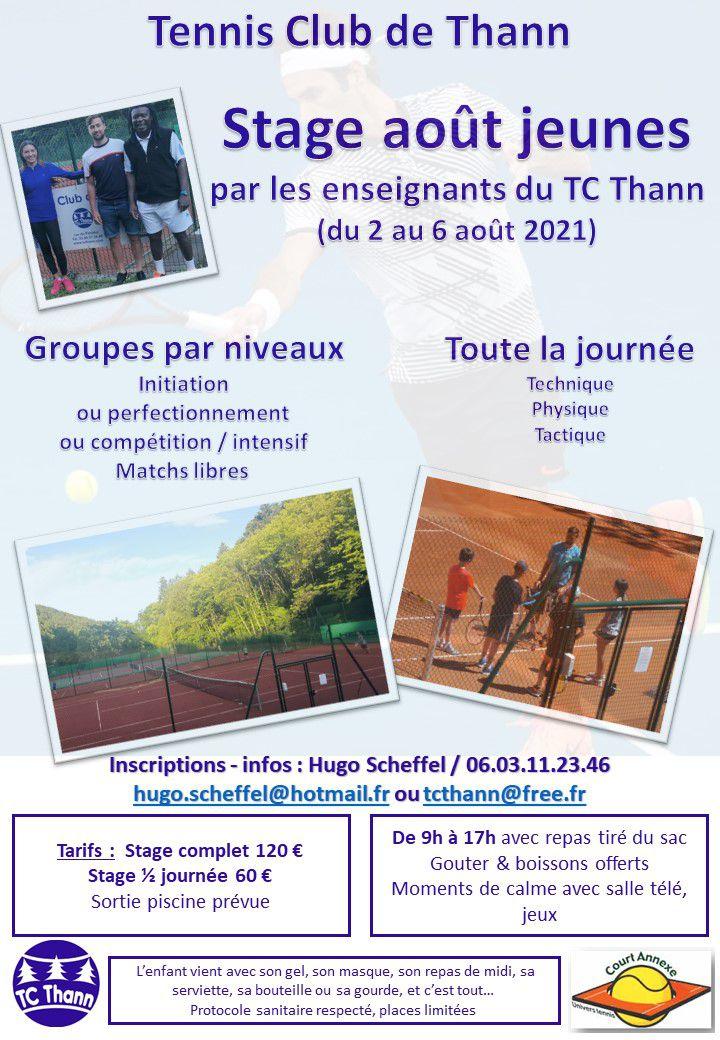 TC Thann : Stages estivaux à gogo...