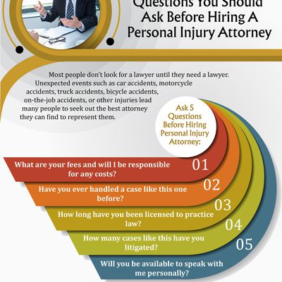 5 Questions You Should Ask Before Hiring A Personal Injury Attorney