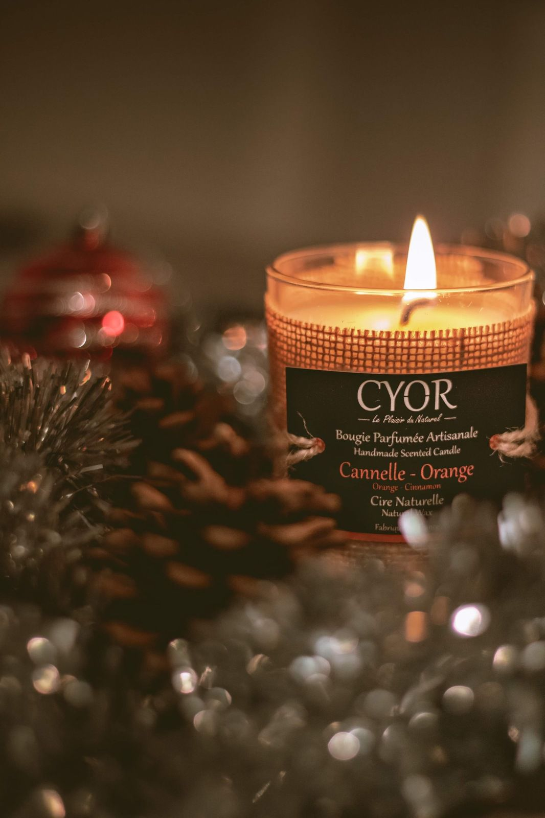 Blogmas : On découvre CYOR-Bougie Naturelle Cannelle Orange