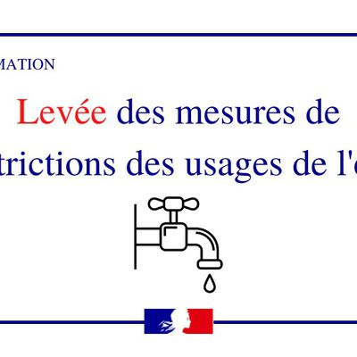 Levé des mesures de restrictions d'eau dans le Cantal