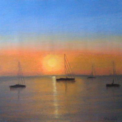 Segelboote im Abendlicht