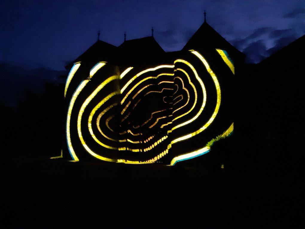 Spectacle nocturne sur le château de Fresnay