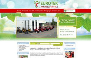 Page d'accueil de notre site marchand