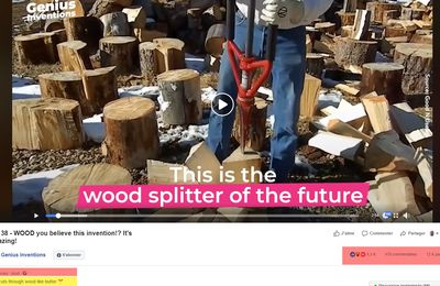 SPLITZ-ALL : This cuts through wood like butter - This the wood splitter of the future !