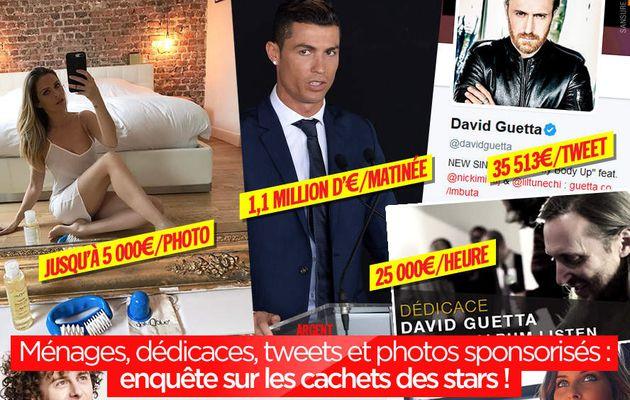 Ménages, dédicaces, tweets et photos sponsorisés : enquête sur les cachets des stars ! #business