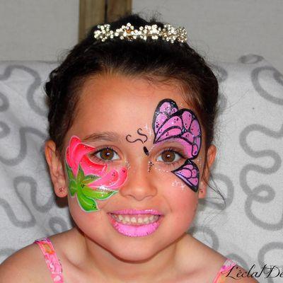 Maquillage Fleur et Papillon + vidéo