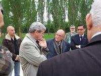 Visite du Préfet Ceaux à l'ancien camp de Saint Maurice l' Ardoise (30)