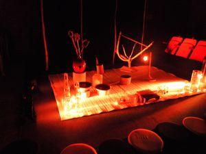 le décor et les jeux de lumière