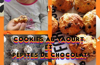 Cookies au yaourt et pépites de chocolat