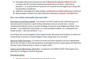 SERIC 2020, 25 novembre, 69000, Lyon : Relecture de l'expérience du confinement à la lumière des Ecritures : l'Arche de Noé