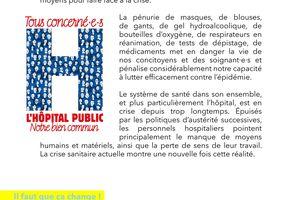 Protéger la population, nos soignant.es, renforcer la santé publique - PCF 7 avril 2020