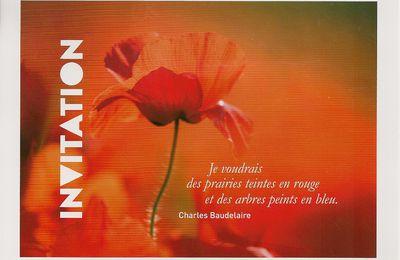 Magnifique carte postale avec phrase de Baudelaire ...