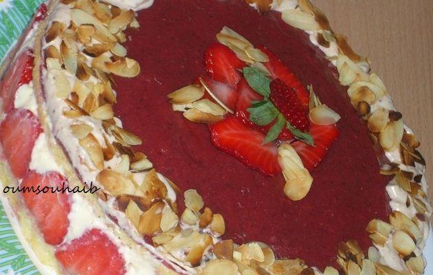 recette de fraisier en étape