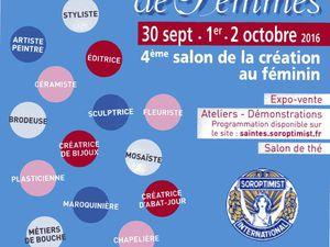 """Avec le """" Palissy II """" (la brasserie), la galerie """" Instant T Art """" et à l'espace Mendés France chez les dames avec """" Talents de femmes """"."""