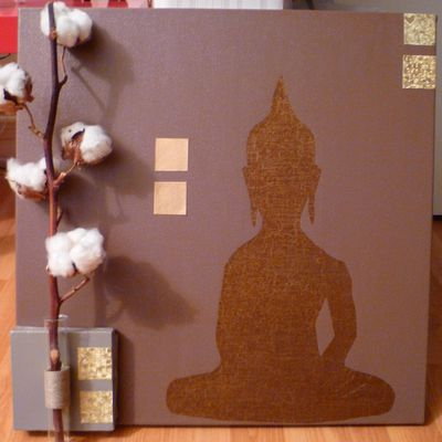 Golden Zen (tableau bouddha esprit zen)-DIY