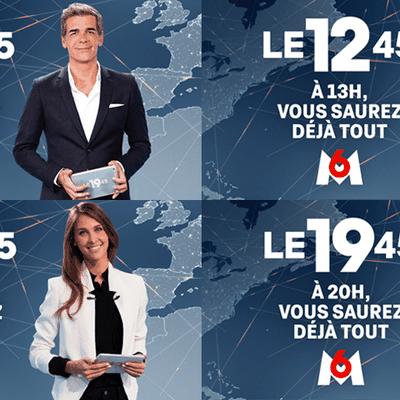 Le 12h45 et Le 19h45 : les JT de M6 sont les plus appréciés des Français
