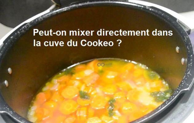 Peut -on mixer directement dans la cuve du Cookeo ?