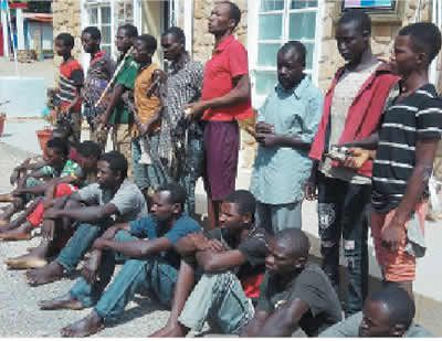 Jos tension: Police parade murder suspects, 15 others