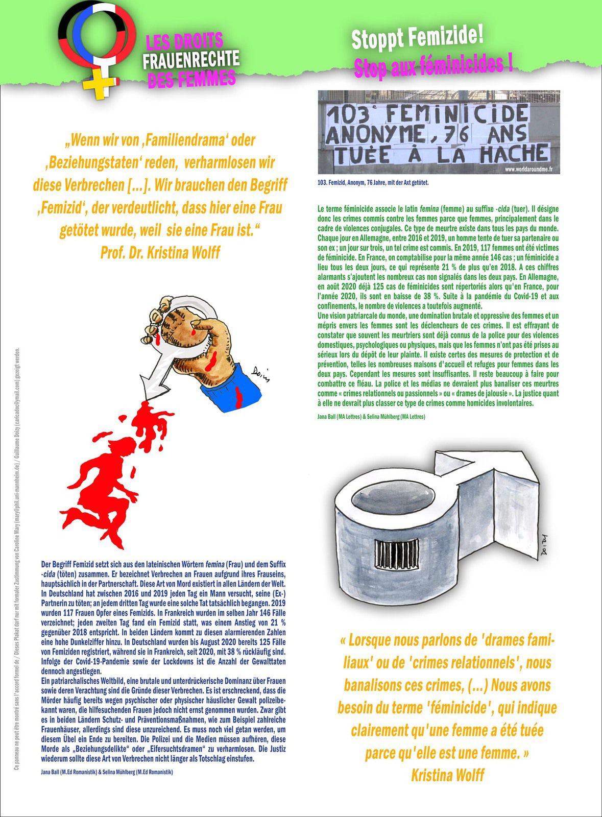 Droits des femmes / Frauenrechte : Exposition / Ausstellung