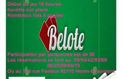 Le comité d'Hénin-Beaumont du Secours Populaire organise un concours de belote le 9 mars salle Saint-Paul
