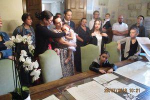 Baptême républicain en mairie