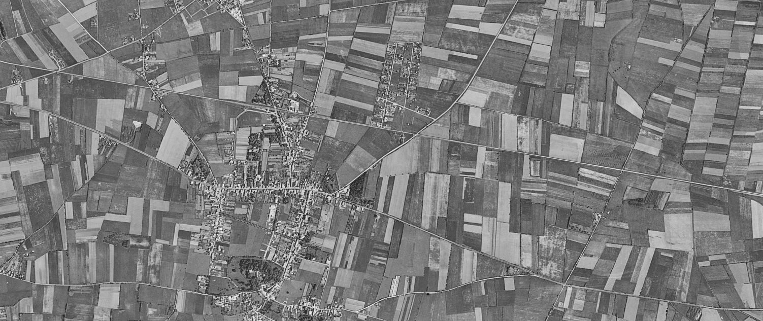 Meyzieu en 1950 - Capture écran du site Géoportail, 27 janvier 2021