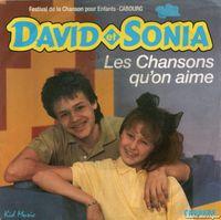 """David et Sonia, un duo musical français des années 1980 avec les titres """"c'est laquelle?"""", """"Ty et uan"""", """"les chansons qu'on aime"""""""