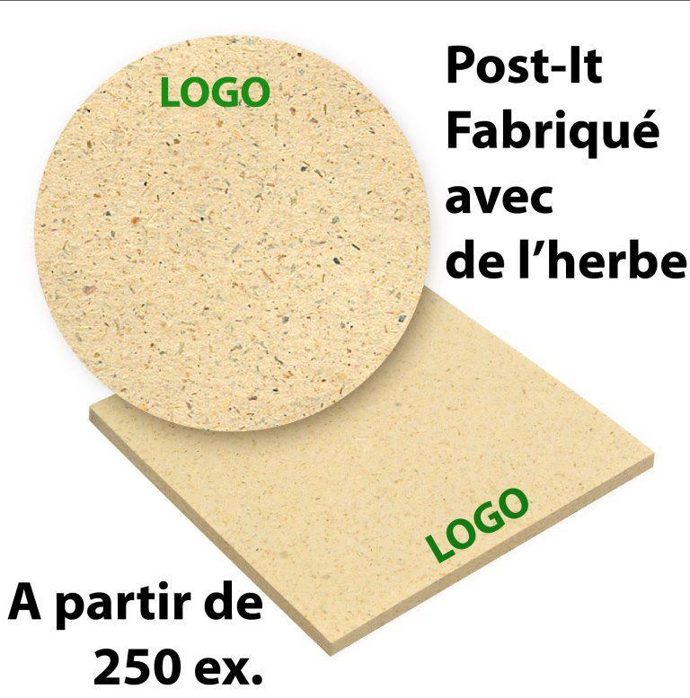 Post It publicitaire fabriqué avec de l'herbe : très original et écologique