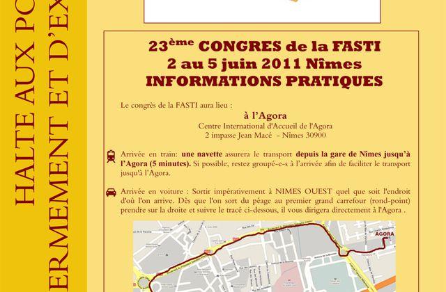 23ème Congrès de la Fasti à Nîmes