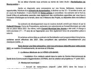 Voeux du Maire de La Vôge-les-Bains, Frédéric Drevet