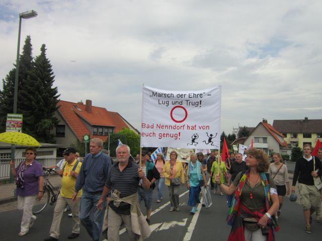 Aktionen gegen den Nazi-Aufmarsch in Bad Nenndorf am 4.8.2012