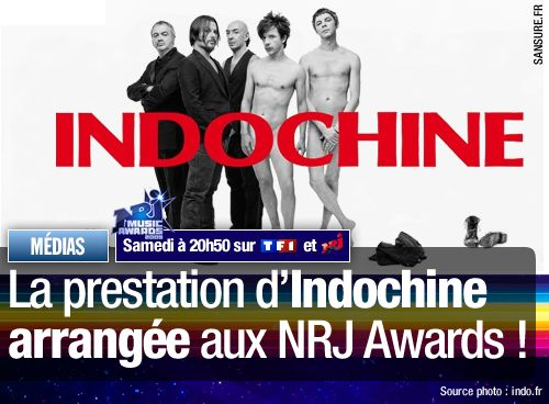 La prestation d'Indochine arrangée aux NRJ Awards !