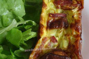 Quiches sans pâte au chèvre, courgette et bacon -Light-