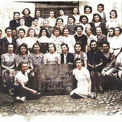 Classe coupe et couture de Maurs 1942