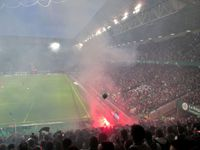 Magnifique victoire des Verts contre Nice (3-0) qui les propulse directement en Ligue Europa! Je suis si fière de mon équipe!