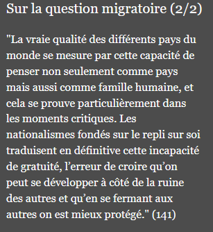 """LES PASSAGES CLÉS DE L'ENCYCLIQUE """" FRATELLI TUTTI """" - 5 -"""