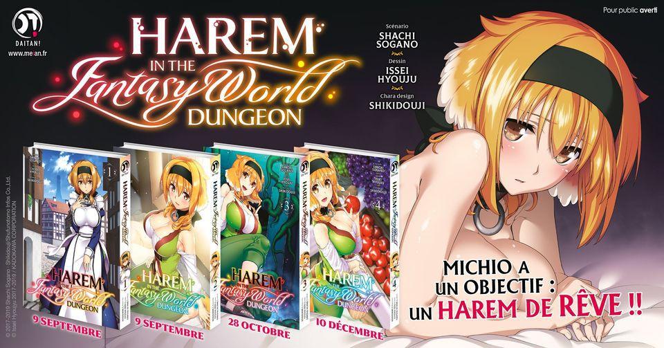 Le manga Harem in the Fantasy World Dungeon rejoindra le catalogue des éditions Meian dès le 9 septembre !