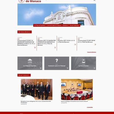Le Tribunal Suprême de Monaco a son site internet