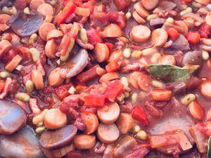 Ragoût de saucisses knackis - Cassoulet revisité ?