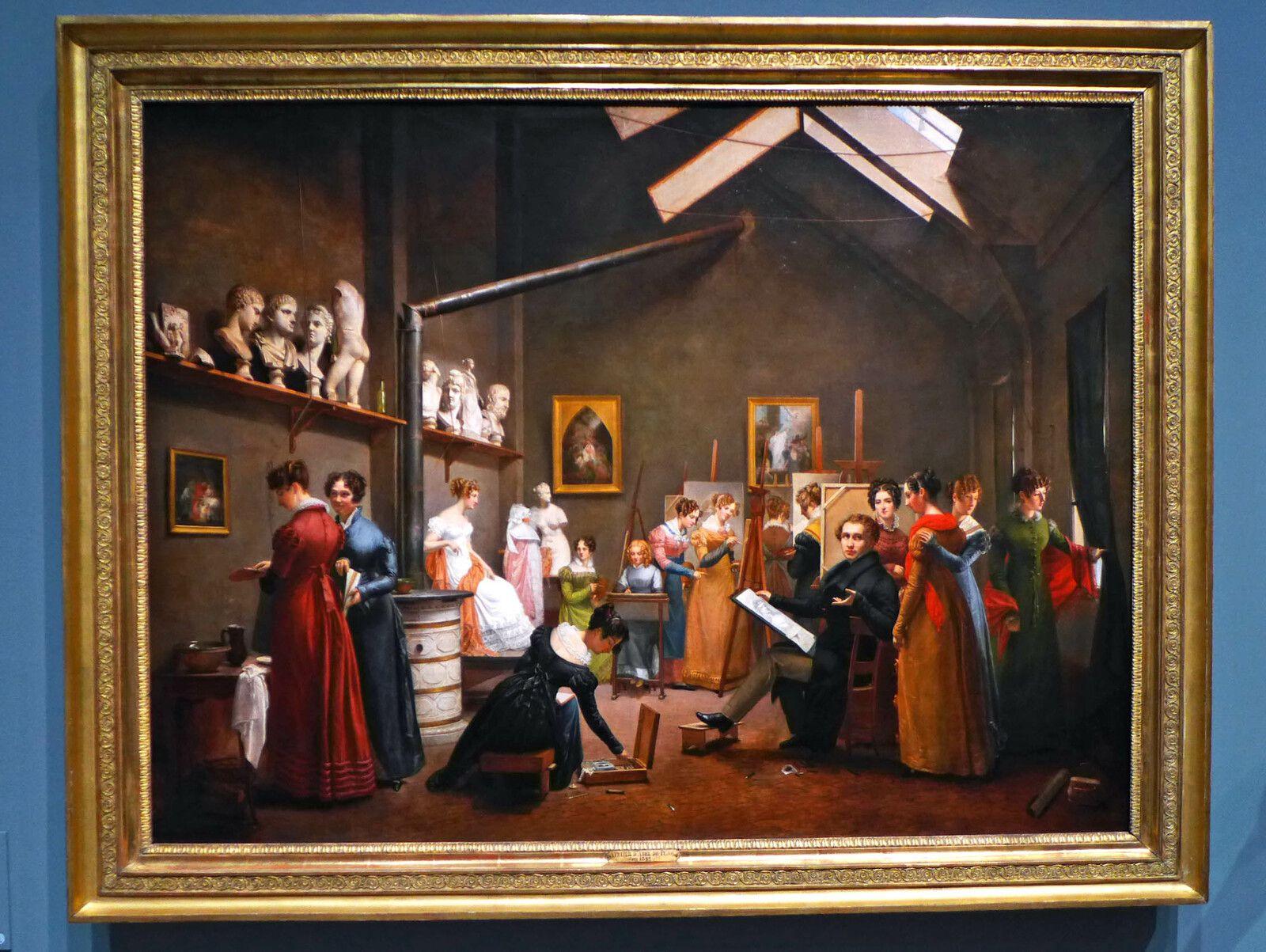 Adrienne-Marie-Louise GRANDPIERRE-DEVERZY épouse PUJOL (1798-1865), L'Atelier d'Abel de PUJOL (1822), huile sur toile. France, Paris, musée Marmottan-Monet.