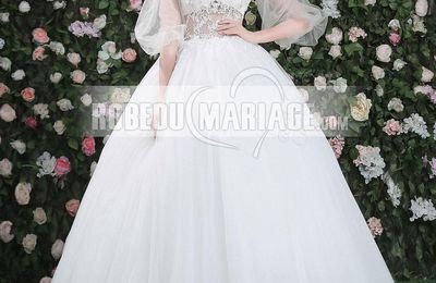 Popularité d'une robe de mariée à manches longues