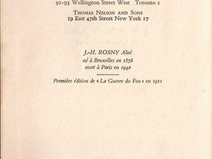 """J.-H. Rosny aîné """"La Guerre du Feu"""" (Nelson - 1955) [Type RBI]"""